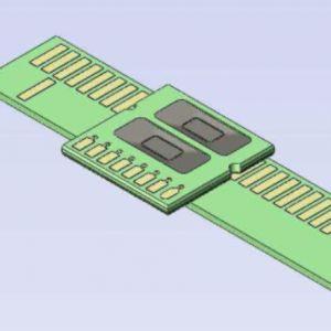 Linear PCB target 195 mm -ID445