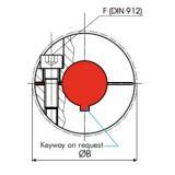 Servo insert Coupling bores 36/42 mm - ID583