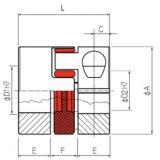 Accouplement à anneau élastomère alésage 36/42 mm -ID583