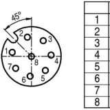 Connecteur BINDER M12 8 broches femelle