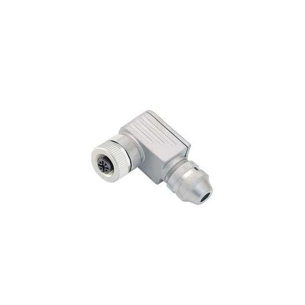 Connector M12 5 Pin Female, Angled, BINDER