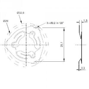 Couplage de ressort standard pour 2RMHF - ID310