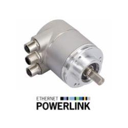 OCD - 25 bits Multitours, liaison Ethernet Powerlink V2, bride 58 mm, axe de Ø 10 mm - ID 368