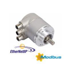 OCD - 25 bits Multitours, liaison Ethernet Modbus TCP et TCP/IP-UDP, bride 58 mm, axe de Ø 10 mm, IP66 - ID367