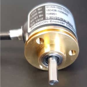 SCA24 - 1024 ppr, diameter 24 mm, shaft ø 4 x 12 mm with flat -ID342