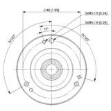 OCD - 24 bits multiturn SSI, flange ø 58 mm, shaft ø 10 mm - ID242