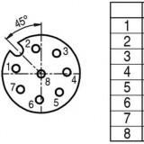 Connector M12 8 pin female, BINDER - ID248
