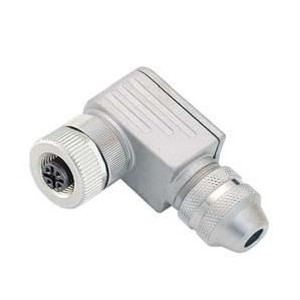 Connector M12 5 pin female, angled, BINDER - ID250