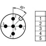 Connector M12 5 pin, male, BINDER - ID263