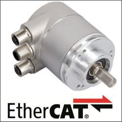 OCD - 25 bits Multitours, liaison EtherCAT®, bride 58 mm, axe de Ø 10 mm - ID 349