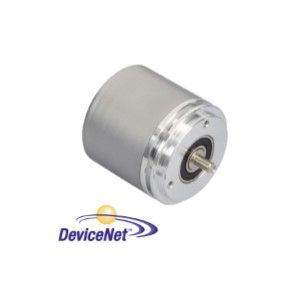 OCD - 24 bits Multitours, liaison DeviceNet, taille 58 mm, axe sortant Ø 10 mm, bride synchro - ID184